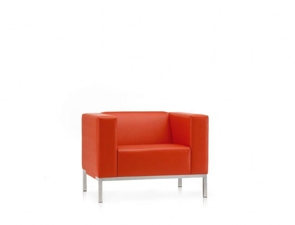 Pledge Box Visitor Soft Seating Arm Chair With 4 Leg Frame